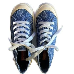Rocket Dog Blue Paisley Sneakers ~ 7.5 Medium